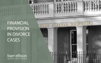 Financial Provision in Divorce Cases