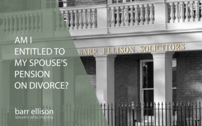 Am I entitled to my spouse's pension on divorce?
