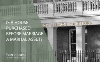 Is a house purchased before marriage a marital asset?