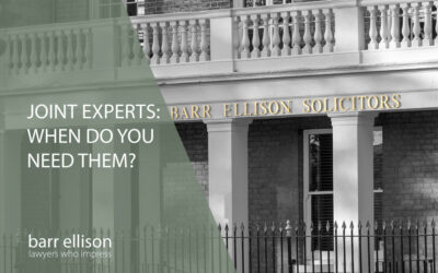What is a joint expert and when do you need one?