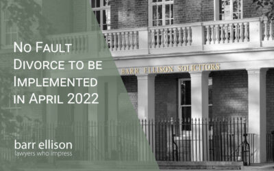 No Fault Divorce to be Implemented in April 2022