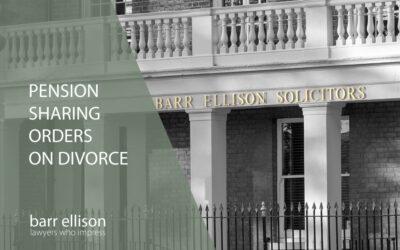 Pension Sharing Orders on Divorce