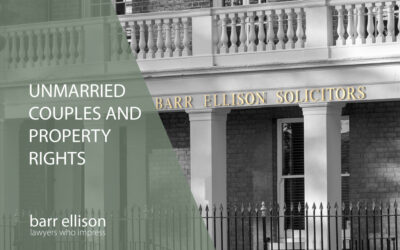 Unmarried Couples and Property Rights