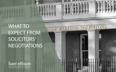 What to expect from Solicitors' Negotiations