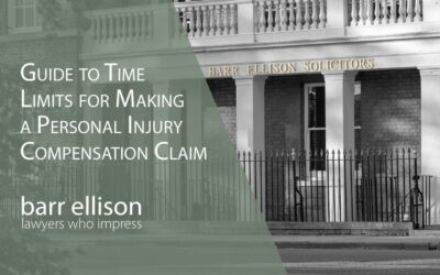 Time Limits for Personal Injury Claims