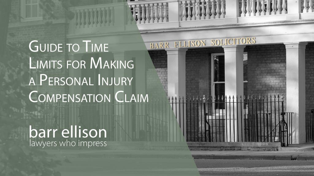 Guide to Time Limits for Making a Personal Injury Compensation Claim