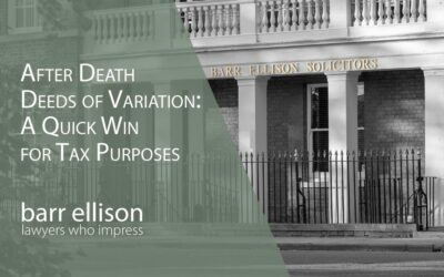 After Death Deeds of Variation Effective for Tax Purposes