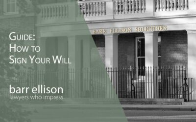 How to Sign and Witness Your Will