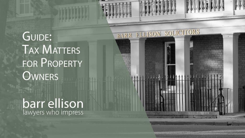 Tax Matters for Property Owners