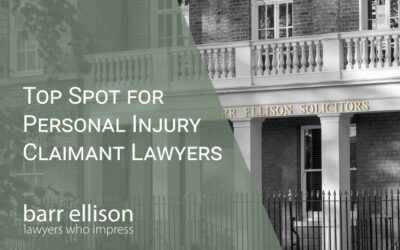 2021 Top Spot in Personal Injury in East Anglia