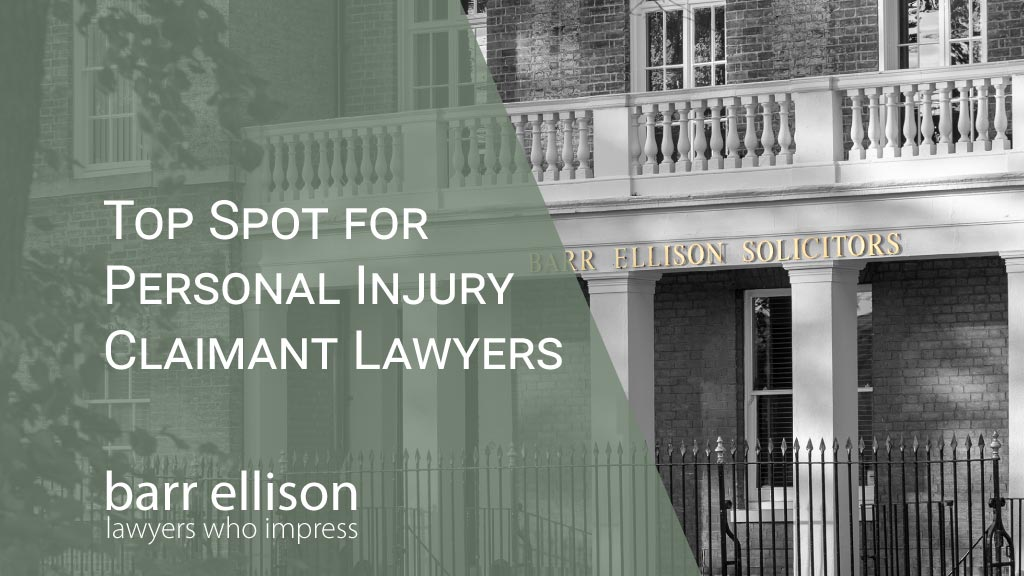 Top Spot in Personal Injury for Claimant Lawyers