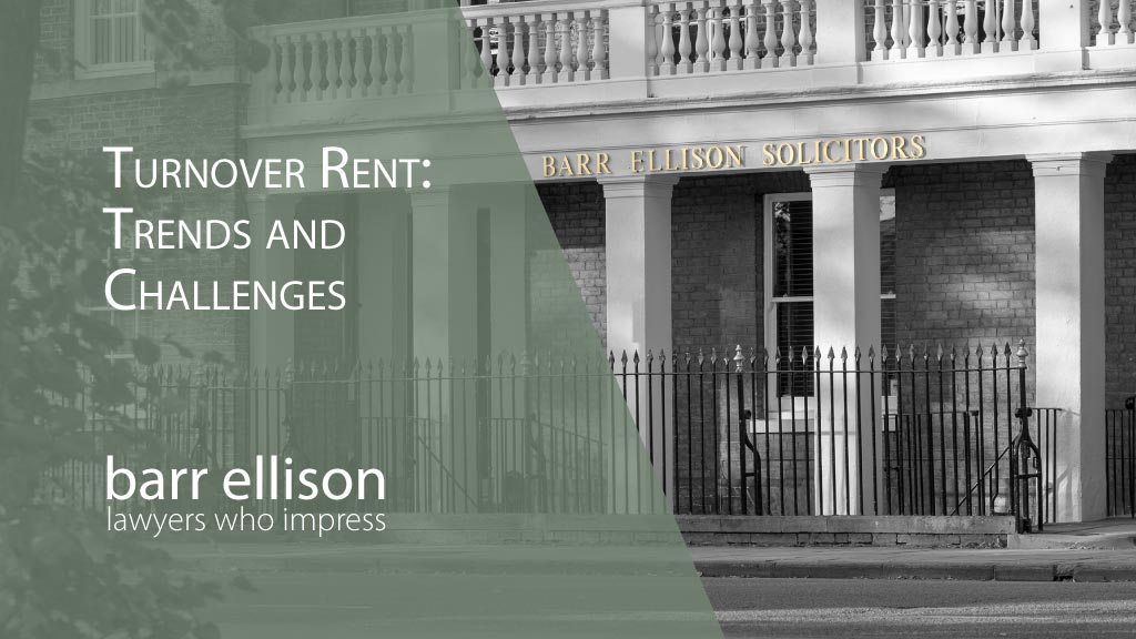 Turnover Rents Review of the Trends and Challenges